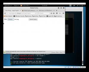 Kali Linux - Firefoxで画像アップ