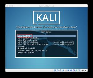 Kali Linux - Grub