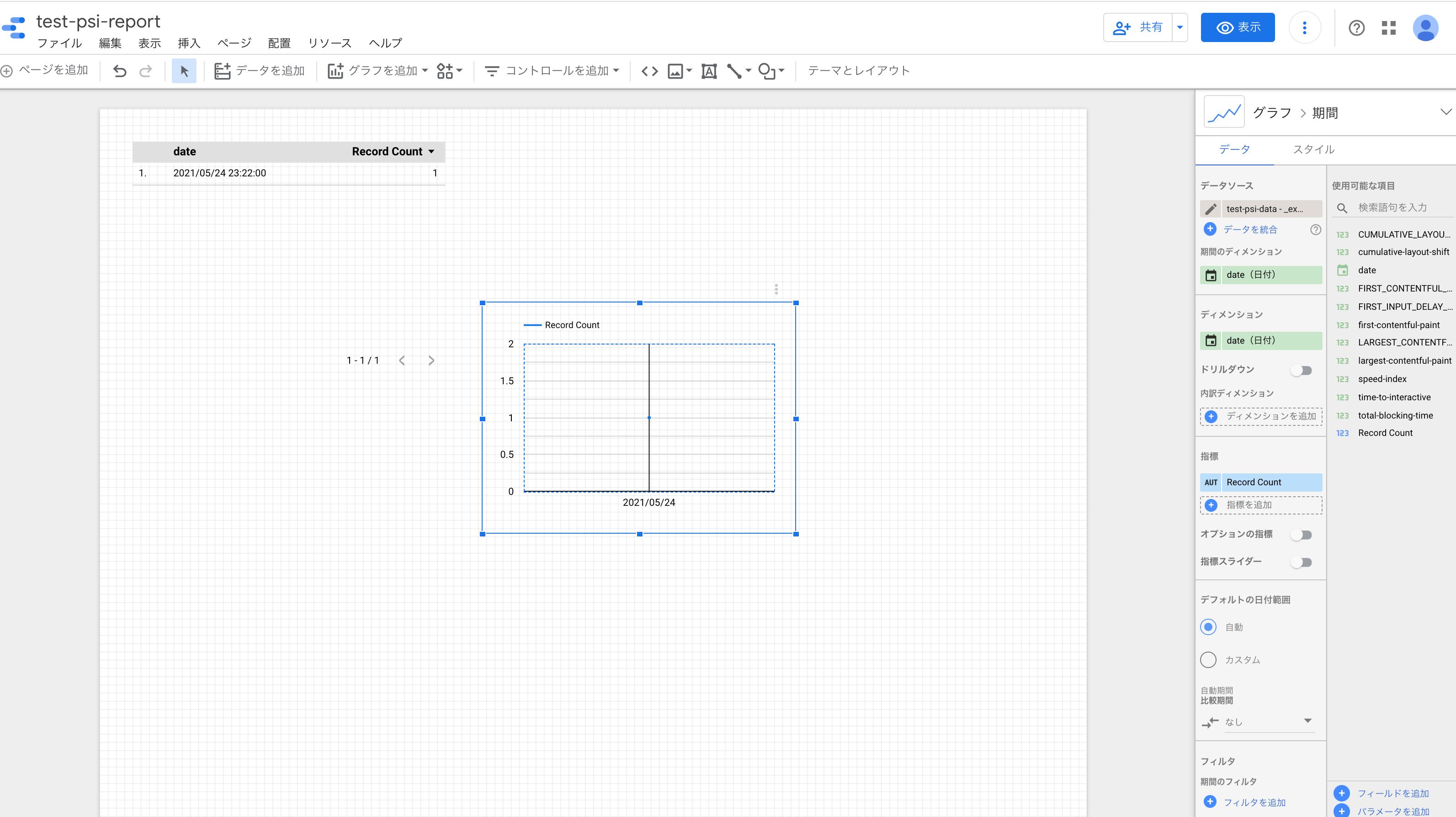時系列グラフ追加